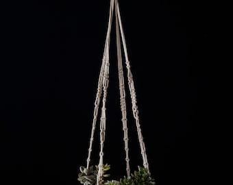 Macrame and Ceramic Hanging Planter
