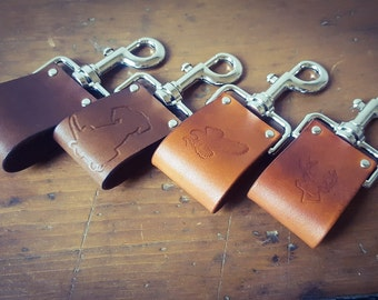 Leather Key Ring, Leather Gift