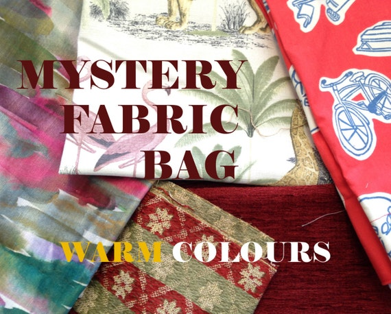 1kg Mystery Fabric Bag - WARM Colours