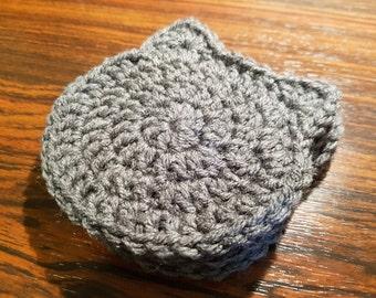 Crochet Cat Coasters Handmade