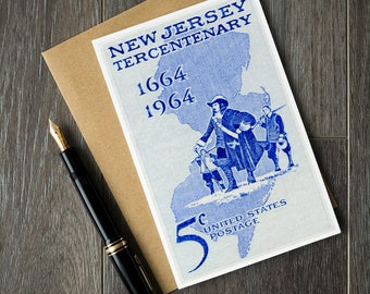 New Jersey card, New Jersey gift, New Jersey posters, New Jersey art, New Jersey birthday, New Jersey invitation, New Jersey history, NJ USA