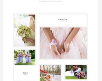 Custom WordPress Theme // WordPress Template // Divi Theme // Custom Website for Bloggers // Feminine Custom Photography Wedding Website