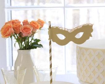 Masquerade Cake Topper, Mask, Cast Party Decorations, Phantom of the Opera, Mardi Gras, Wedding Theme, Theater, Graduation, Birthday