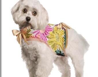 Reversible pet dress,flower pet coat,dog coat flowers,cat coat flowers,rabbit coat flowers,cat,dog,rabbit,coat,flowers,costume,pet coat,pets