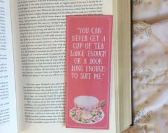 Cup Of Tea and Books C. S. Lewis Quote Bookmark