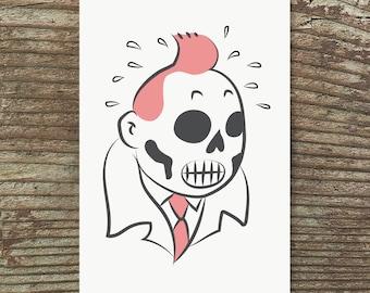 Tintin Undead Print