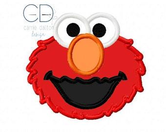 Elmo Applique Design, Elmo Embroidery Design
