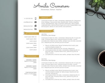 Creative Resume Template For Pages & MS Word. Complete 1,2,3 Pages Resume Template | Teacher Resume Template | Modern Resume Template.