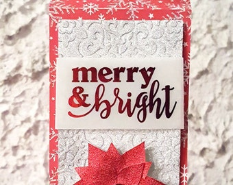 Wine bottle tag | Bottle tag | Gift tag | Christmas | Holiday | Merry & Bright