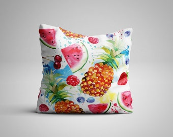Tropical Fruit Cushion.