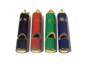 Whistle Pendants x 4