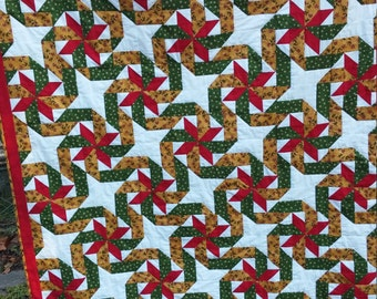 Swirling Christmas Star Quilt