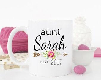 Pregnancy Reveal to Sister, Sister Mug, Aunt to be Gift, Custom Aunt Mug, New Aunt Gift, Christmas Gift for Sister, Aunt Mug
