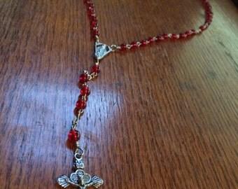 Red Handmade Rosary