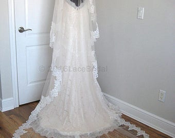 Cathedral lace veil - Bailey