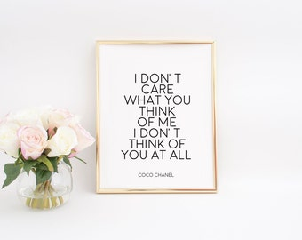 Fashion Wall Art PRINTABLE ART Fashion Art Fashion Print Coco Chanel Wall Decal Coco Chanel Print Coco Chanel Quotes Inspirational Print