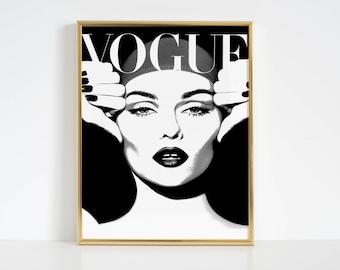 VOGUE COVER Fashion Poster Fashion Decor Women Gift Vogue Poster Vogue Print Vogue Magazine Vogue Art Paris Fashion Fashionista Vogue
