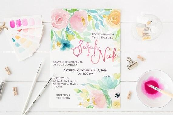 Printable Bespoke Wedding Stationery Design Services | Printable Wedding Invitations, Custom Wedding Stationery