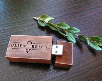 Wooden USB 2.0 flash drive 8 GB 16 gb 32 gb Valentines Day Gift pen drive custom USB wedding usb photography packaging wood usb photography