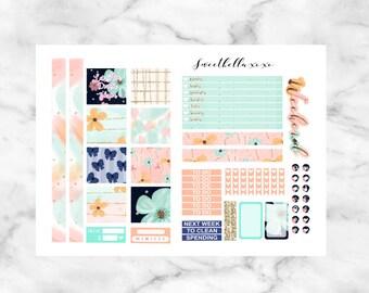 SALE 50% Mini Happy Planner Printable Kit - Peachy  / Planner Stickers / Printable Stickers / Weekly Planner Sticker Kit