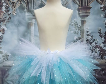 Frozen style ice princess, snow queen tutu skirt