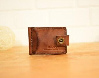 Personalized Men's Wallet , mens wallets , mens wallet , leather wallet , men wallet, Leather Money Clip Wallet