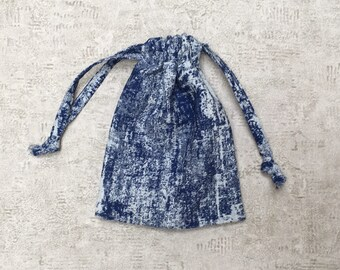 unique smallbag Denim Blue and white - cotton bag