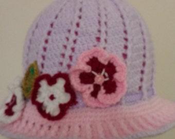 Childs hat. Handemade girls cloche hat