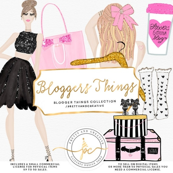Fashion Blogger Clipart Cute Planner Girl Clipart Beauty