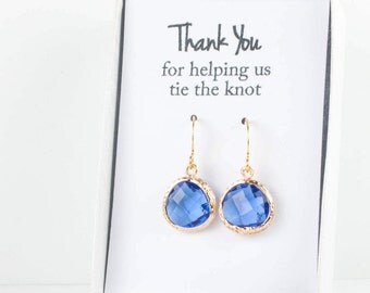 Sapphire Gold Earrings, Gold Sapphire Earrings, Bridesmaid Jewelry, Blue Bridal Accessories, Blue Wedding Jewelry, September Birthstone