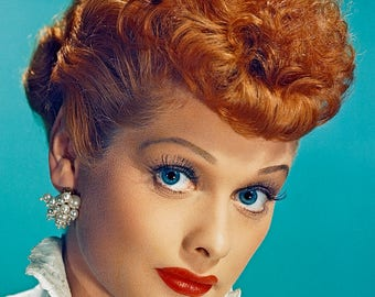 I Love Lucy - Lucille Ball – Lucy - Lucy Ball - Lucille Ball Dress – I Love Lucy Posters - I Love Lucy Prints - 8x10, 11x14, 16x20 (JS1613)