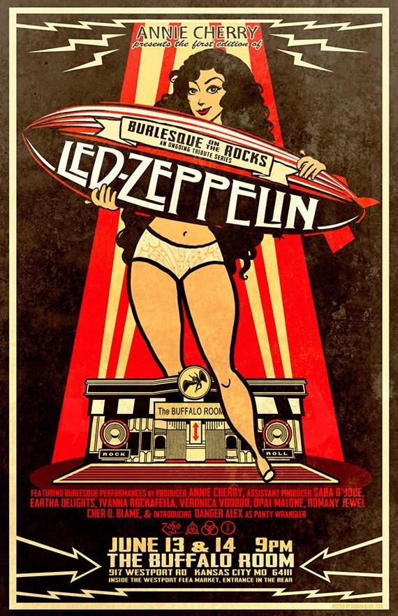 led zeppelin led zeppelin concert poster led zeppelin art. Black Bedroom Furniture Sets. Home Design Ideas