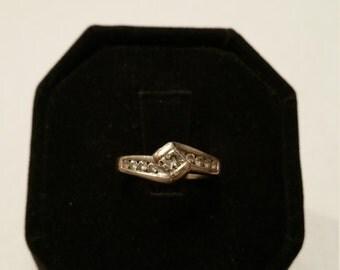 14kt White Gold Diamond Engagement Ring - #139