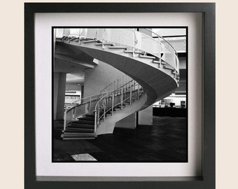 Staircase, Architecture Photography, Black and White