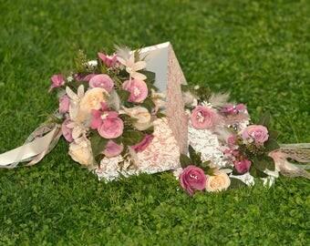 Bridal bouquet set, wedding bouquet, wedding flowers, champagne bouquet, bridal flowers, rustic flowers, costem bouquet, handmade bouquet,