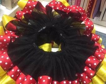 Ribbon Trim Tutu Minnie Mouse