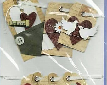 Love Wedding Tags  Forever In Time Scrapbook Embellishments Cardmaking Crafts