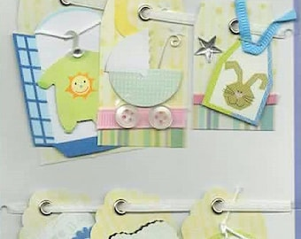 Baby Boy Tags  Forever In Time Scrapbook Embellishments Cardmaking Crafts