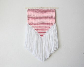 Pink and White Wall Hanging