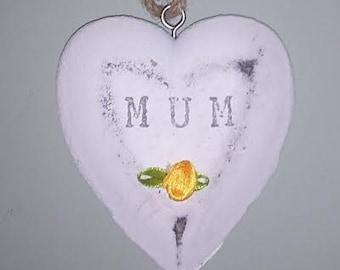 Handcrafted Stone Mum Heart