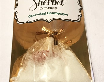 Champagne Sherbet with Lollipop