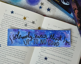 Harry Potter Bookmark | I solemnly swear that I'm up to no good
