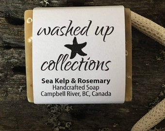 Organic Sea Kelp & Rosemary Soap   Bath and Beauty   Hand-crafted