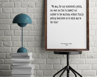 The Scarlet Letter, Book Quotes, Wall Art, Inspiring Quotes, Minimalist Art, Vintage Art, Home Decor,  Literary Art, Library Art