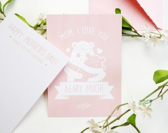 Mother's day Card // Mother Card // Mother's day gift // Greetings card // Mutter Tag // Mutter Tag Karte