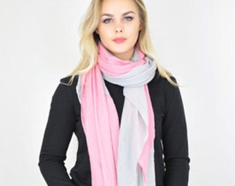 Woven Oversized Pink Scarf / Summer Spring Scarf / Autumn Scarf / Womens Scarves / Gift for her / Fashion Accessories / Womens Gift