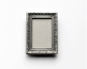 Small Pewter Look Picture Frame, Burnes of Boston, Vintage Frame, Photo Holder, Silver Frame, Miniature Frame, Graduation Gift, For Her