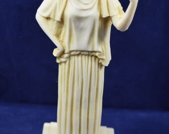 Hestia sculpture statue ancient Greek Goddess of the agriculture aged
