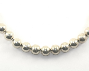 Vintage Beads Beaded 12mm Chain Necklace Sterling Silver NC 841