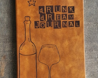 Drunk Dream Journal (large brown)